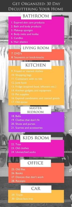 How to Purge Your Home Naturally In 30 Days: All it takes is a few supplies, a day's worth of cleaning and this 30-day plan for organizing and you'll be on your way to a clutter-free life! Learn more at http://www.purefiji.com/blog/diy-home-declutter/   Home Organization Tips + Ideas   Spring Cleaning   DIY Natural Cleaners #clutterhacks