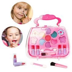 Simdoc Girls Make Up Game Toy Set Plastic Miniature Pretend Play Box Child role play props Funny Lovely Gifts * Find out more reviews of the item by checking out the link on the image. (This is an affiliate link). #christmastree