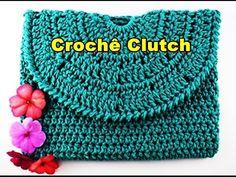 Como fazer bolsa de croche | Bolsa de Mão | Clutch Euroroma | Parte 1 - YouTube