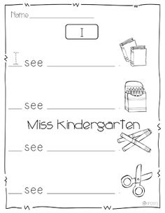 Miss Kindergarten: Writing in Kindergarten