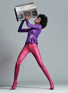 Imaan Hammam by Chris Colls for The Edit February Art director: Gemma Stark Fashion editor: Tracy Taylor Hair stylist: Peter Gray Makeup artist: Maud Laceppe Beauty Editorial, Editorial Fashion, Editorial Photography, Fashion Photography, Photography Magazine, Balenciaga Top, Mode Editorials, Fashion Editorials, Purple Blouse