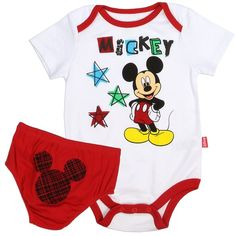 Another great find on White & Red Mickey Mouse Star Bodysuit & Diaper Cover - Infant by Mickey Mouse & Minnie Mouse Mickey Mouse Nursery, Mickey Mouse Outfit, Disney Mickey Mouse, Minnie Mouse, Baby Boy Outfits, Kids Outfits, Baby Mouse, Baby Disney, Free Clothes