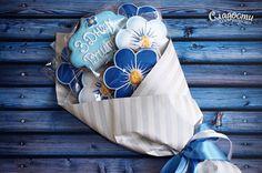 Gingerbread bouquet of flowers Пряничный букет цветов. #пряники #пряник…