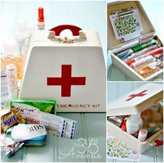 Back to School Emergency Kit. Filled with lotion, gum, mints, candy, hand sanitizer, lip balm, a gift card, and more.