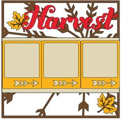 CTMH Cricut Artbooking Harvest Scrapbook Layout