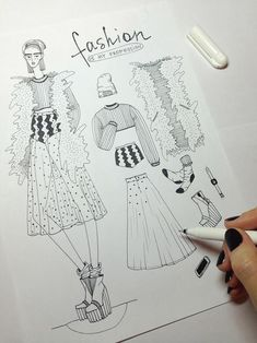 Ideas for fashion illustration inspiration haute couture – Fashion Models Fashion Design Sketchbook, Fashion Design Portfolio, Fashion Design Drawings, Drawing Fashion, Dress Illustration, Fashion Illustration Sketches, Fashion Sketches, Design Illustrations, Fashion Books