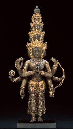 Bodhisattva Avalokiteshvara with Eleven Heads, Tibet,