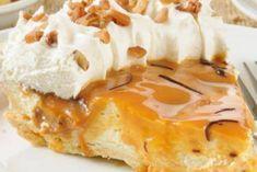Recette : Tarte à la crème et au caramel.