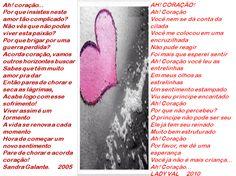 Ah! Coracção-Sandra Galante/Ah!coração-Lady Val - Encontro de Poetas e Amigos