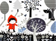 Pinzellades al món: Caputxeta Roja il·lustrada / Caperucita Roja ilustrada / Little Red Riding Hood illustrated / Le Petit Chaperon Roug illustré (8)
