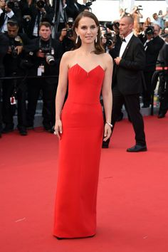 Pin for Later: Over 60 of Natalie Portman's Best Red Carpet Looks Ever Natalie Portman in Christian Dior at Cannes in 2015 The actress was a vision in red, upstaging the red carpet itself at the premiere of La Tete Haute.