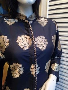 Kurti neck design - The handmade craft Salwar Designs, Salwar Kameez Neck Designs, Punjabi Suit Neck Designs, Neck Designs For Suits, Kurta Neck Design, Kurta Designs Women, Kurti Designs Party Wear, Dress Neck Designs, Blouse Designs