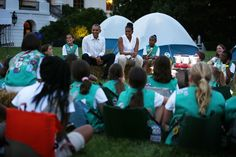 Michelle Obama Photos - Michelle Obama Hosts Girls Scouts at First-Ever White House Campout - Zimbio