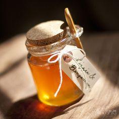 Honeypot Jars $5 #wedding #orange #honey #reception #favors