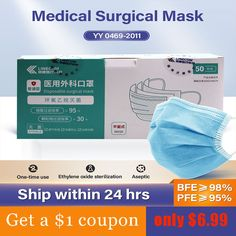 Surgical Medical Mask Anti Dust Disposable Sterile Mask Non-Woven Face Mask Earloops Masks Wholesale Pollen Allergies, Microorganisms, Good Skin, Clean House, July 7, Medical, Products, Medicine, Med School