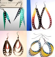 ReFab Diaries: Repurpose: Negative earrings...