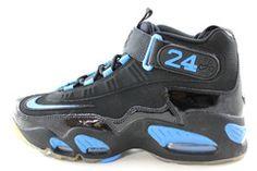 348ffe14c0e5 Nike Air Griffey Max 1 Men s Black Photo Blue Basketball Trainers Shoes  354912 030 -
