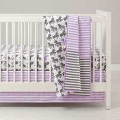 Unicorn Parade Crib Bedding  | The Land of Nod UNICORNS!!!!!!!!!! So cute for baby girl :)