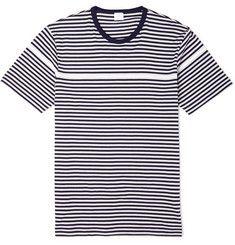 SunspelStriped Cotton T-Shirt