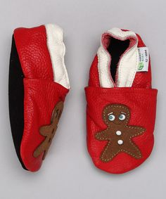 Take a look at this Red Gingerbread Man Booties by Augusta Baby on #zulily today!