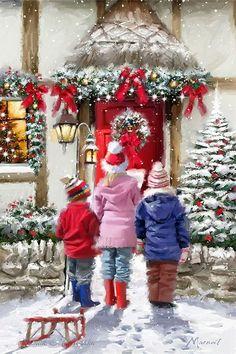 Мобильный LiveInternet В Рождество все дома, как шкатулки запрятанных истин… Художник Richard Macneil. | луида - Дневничок для моих друзей и гостей . |