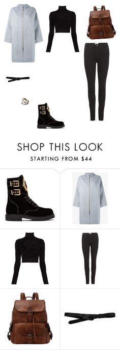 """Untitled #2607"" by anamaria-zgimbau ❤ liked on Polyvore featuring Balmain, Acne Studios, A.L.C. and Lowie"