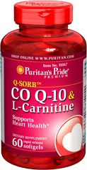 Co Q-10 30 mg plus L-Carnitine 250 mg Provides powerful nutrients that support your heart**  Supports energy production**  Statin drugs can reduce Co Q-10 levels in the body, so taking Co Q-10 & L-Carnitine can replenish what Statin drugs can deplete++ ++Note: Co Q-10 is not intended to serve as a replacement for Statin therapy, nor should you discontinue taking any prescribed medications while supplementing with Co