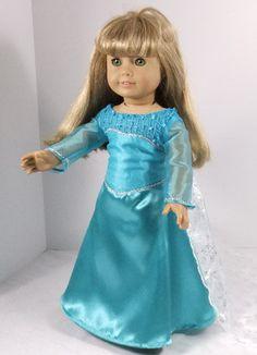 Snow Queen Dress for American Girl or Elsa by Fashionsfordolls2, $35.00