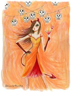 Bella Pilar- Devil Halloween Card