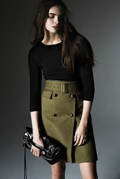 Take inspiration from the Rebecca Minkoff PreFall15 collection and try a military inspired skirt this season. www.stylestaples.com.au