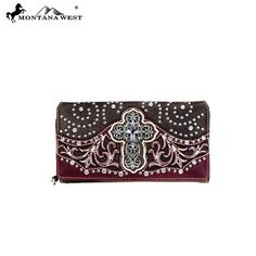 Montana West Wallet Womens Spiritual Collection Secretary Style Wallet Coffee #MontanaWest #secretarystyle