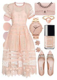 """Untitled #559"" by ssm1562 ❤ liked on Polyvore featuring mode, Deborah Lippmann, Alexis, Miu Miu, Nixon, ABS by Allen Schwartz en Chanel"