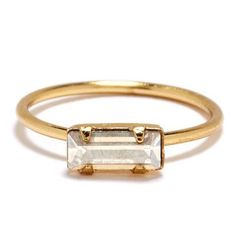 Tiny Baguette Ring | Bing Bang Jewelry