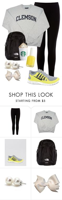 """""""Can you tell I never dress up for school?"""" by southernbrooke ❤ liked on Polyvore featuring Warehouse, NIKE, The North Face and Bounkit"""