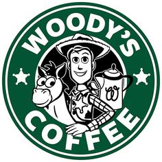 coffee, starbucks, and woody kép Starbucks Logo, Disney Starbucks, Starbucks Coffee, Disney Movies, Disney Pixar, Walt Disney, Disney Diy, Disney Crafts, Woody