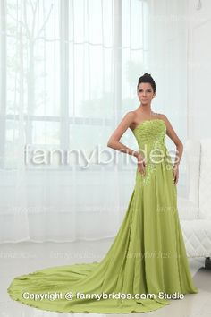 Floor-length Strapless Applique Ruffles Long Evening Gown - Fannybrides.com Discount Prom Dresses, Long Evening Gowns, Ruffles, Applique, Floor, Formal Dresses, Fashion, Long Evening Dresses, Pavement