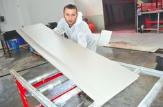 Our Foam Coater machines can coat Smooth and Perfect Product . Automatic foam coater 6000 from Starfoamcutter.com