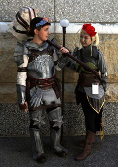 https://flic.kr/p/xCjexA | Lieutenant Cremisius Aclassi, and one of the Dalish elves, both from the Dragon Age video games