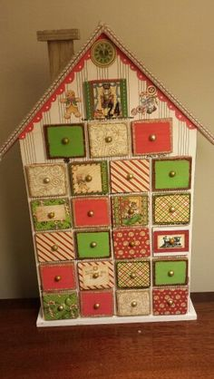 My advent house using graphic 45 nutcracker sweet paper range Christmas Crafts, Christmas Decorations, Holiday Decor, Advent House, Seasons Months, Nutcracker Sweet, Calendar Ideas, Advent Calendars, Better Half