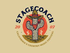 Stagecoach 2016 designed by Treka / Autor Co. Connect with them on Dribbble; Vintage Labels, Vintage Posters, Retro Logos, Badge Design, Typography Logo, Creative Logo, Design Reference, Graphic Design Inspiration, Stagecoach 2016