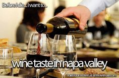 Before I die, I want to...Go Wine Tasting in Napa Valley