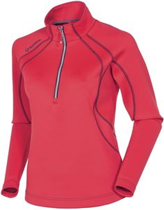 SUNICE Megan Lightweight Thermal Stretch Ladies Pullover | #Golf4Her #golf #red