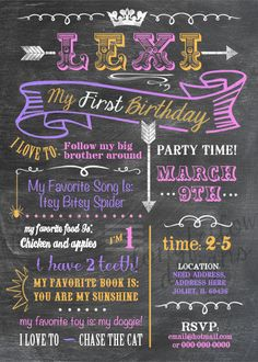 Printable Baby's Firsts Birthday Invitation  by Longfellowdesigns, $18.00