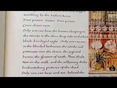 Sheila Waters' calligraphic 'Under Milk Wood' - YouTube
