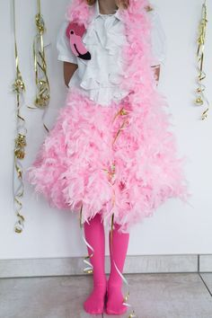 Last Minute Karnevalskostüm Flamingo - lady-stil.de - Last Minute Karnevalskostüm Flamingo - lady-stil. Last Minute, Karneval Diy, Halloween Karneval, Flamingo Party, Lady, Halloween Makeup, Fancy Dress, Harajuku, Ballet Skirt