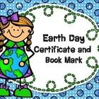 Give these certificates and bookmarks out in celebration of Earth Day and taking care of the Earth!  Enjoy and keep making our world a better place...