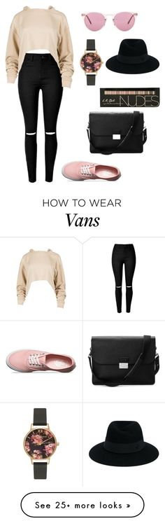 """""""Untitled #819"""" by likasmail on Polyvore featuring Oliver Peoples, Vans, Aspinal of London, Maison Michel and Olivia Burton"""