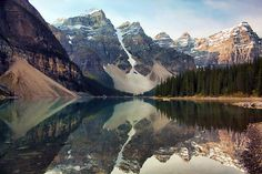 Early Morning at Moraine Lake (by sminky_pinky100 (In and Out))