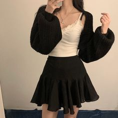 Edgy Outfits, Korean Outfits, Cute Casual Outfits, Pretty Outfits, Fashion Outfits, Casual Clothes, Kpop Fashion, Asian Fashion, Girl Fashion
