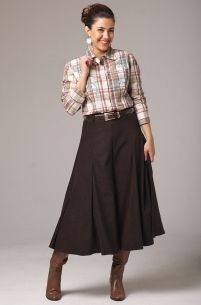 Gaucho Pants in Brown